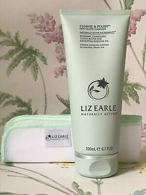 £23.99 • Buy GENUINE Liz Earle Cleanse And Polish Hot Cloth Cleanser With Muslin Cloth 200ml