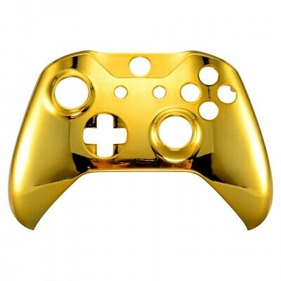 $14.99 • Buy Chrome Gold Housing Shell Faceplate For Xbox One S X Controller