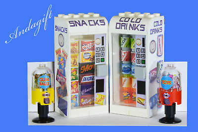 £18.99 • Buy LEGO Drinks And Snack Vending Machines  Food Fridge Train Station Shop NEW