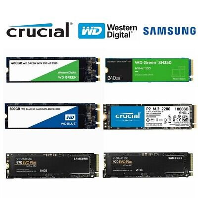 AU87.95 • Buy SSD M.2 120GB 240GB 250GB 500GB 480GB WD Green Blue 2280 SATA Solid State Drive