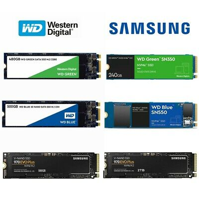 AU103.95 • Buy SSD M.2 NVMe 240GB 500GB 480GB 1TB WD Green Blue SN350 SN550 Solid State Drive