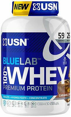 £39.95 • Buy USN Blue Lab 100% Premium Whey Protein 2kg - Isolate / Hydrolysate / Concentrate