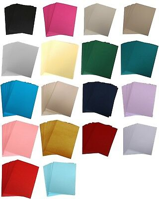 £16 • Buy 5  X 7 Coloured Craft Matt Card, Choose The Colour & Quantity Of Your Cardstock