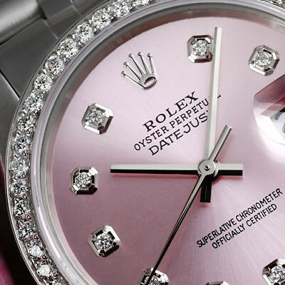 $ CDN9516.52 • Buy Women's Rolex 36mm Datejust Stainless Steel Metallic Pink Diamond Dial Watch