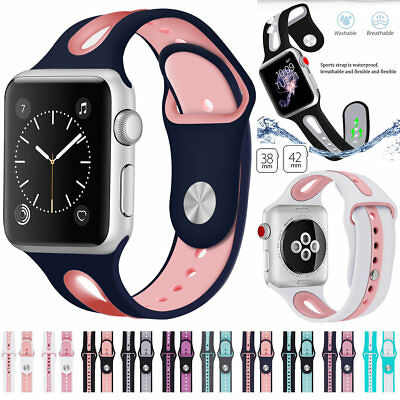$ CDN11.54 • Buy For Apple Watch Silicone Sports Straps Replacement Bracelet Bands Series 1/2/3/4