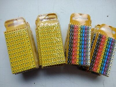 £4.50 • Buy Hellermann Tyton WIC3 0-9 Cable Markers Size 3, YELLOW, Cable Diameter 4,3-5,3m