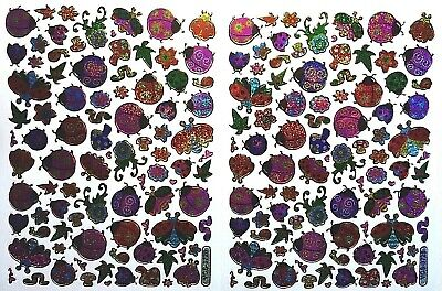 LADYBIRD STICKERS X 2 Sheets *top Quality* And Worms, Mushrooms, Flowers, Snails • 1.99£