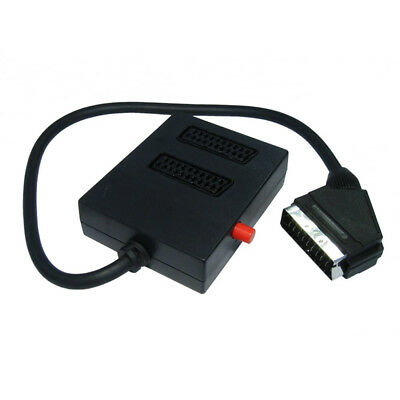 2 Way Scart Splitter Switch Box Adapter For Retro Consoles To TV • 5.99£