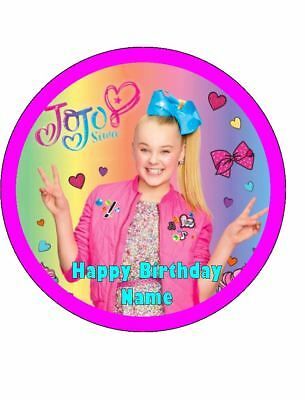 AU14.95 • Buy JOJO SIWA Cake Toppers Personalised Edible Icing Image Birthday Cake Decorations
