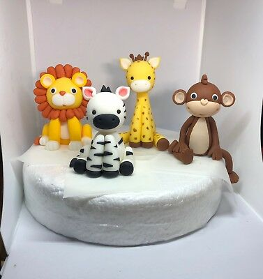 £15 • Buy Edible Cake Toppers Jungle Animals  Boy Girl Birthday Baby Shower Decorating