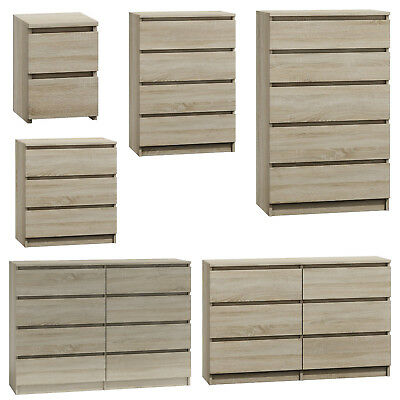 MODERN - SONOMA LIGHT OAK Chest Of Drawers And Bed Side IKEA STYLE  • 94.99£