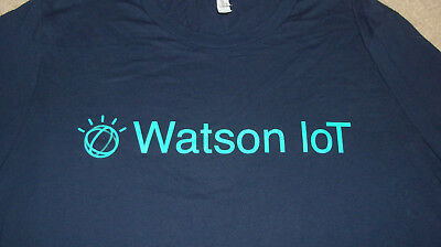 (Sleeve Logo) IBM Watson IoT Size XL Internet Of Things Mens Womens - Barely Use • 18.78£