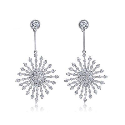 £40.16 • Buy Made With Swarovski Crystals The Poppy Silver Starburst Earrings S3