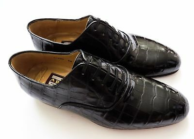 $ CDN3303.13 • Buy $5800 ARTIOLI Black Crocodile Leather Oxford Shoes 11.5 US 44.5 Euro 10.5 UK