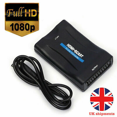 £10.99 • Buy 1080P HDMI To SCART Mini Scaler Audio Video TV  Converter Adapter For DVD SKY
