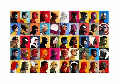 Marvel Universe - Comic Book Characters Large Poster / Canvas Picture Prints • 11.99£