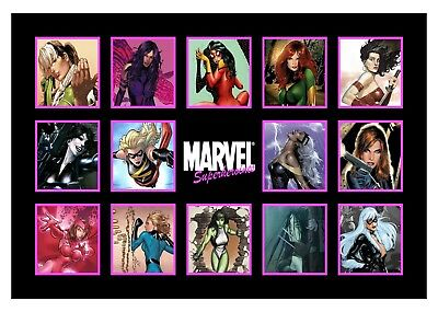 Marvel Superheroines - Comic Book Characters Large Poster / Canvas Picture Print • 21.99£
