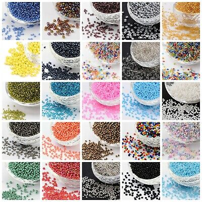 50g (3300 Beads) Glass Seed Beads 11/0 2mm Opaque Ceylon Silver Lined Metallic  • 2.87£