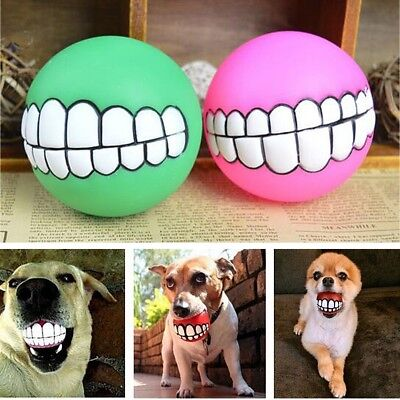 £1.59 • Buy Pet Dog Toy Indestructible Solid Rubber Ball Training Chew Play Fetch Bite Toys