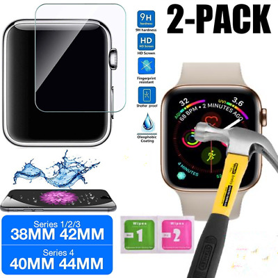 $ CDN2.49 • Buy 2PACK For Apple Watch Series 4/3/2/1 HD 9H Tempered Glass Screen Protector Guard