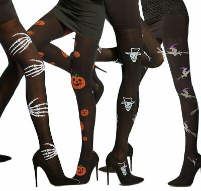 Halloween Fancy Tights Witches Sceletons 40 Denier 3D By Adrian Patterned Tights • 5.99£