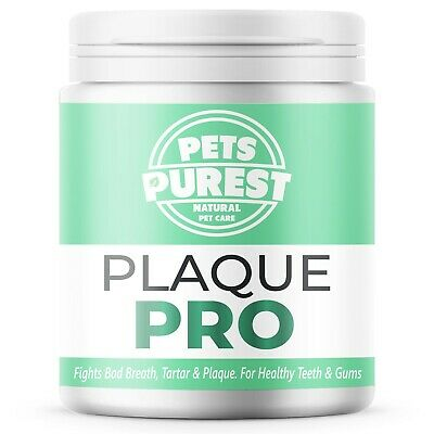 Pets Purest 100% Natural Plaque Off & Tartar Remover For Dogs, Cats & Pets 180g • 12.99£