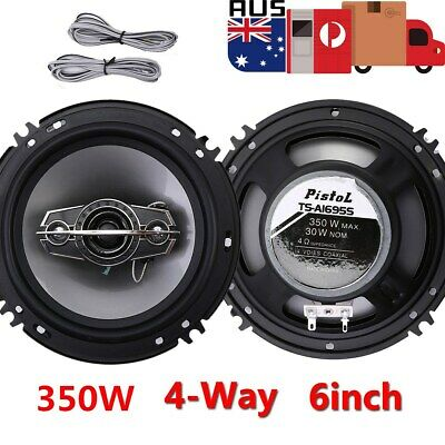 AU32.68 • Buy 2Pcs 6  Inch Car Coaxial Speakers 4 Way 350W Stereo Super Bass Audio Cable Auto