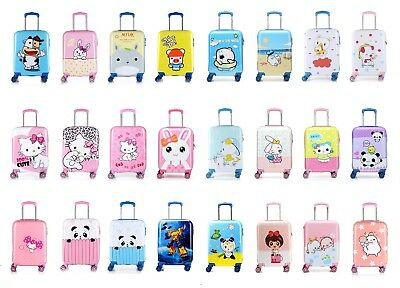 Disney Travel Hard Shell Suitcase Cabin Luggage Kids Childrens Trolley Bag • 24.99£