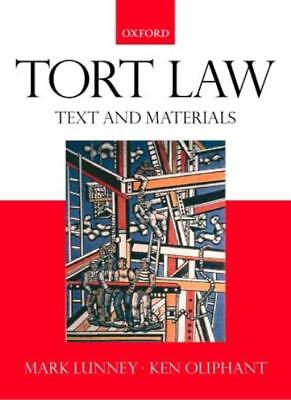 £3.29 • Buy Tort Law: Text, Cases And Materials,Mark Lunney, Ken Oliphant