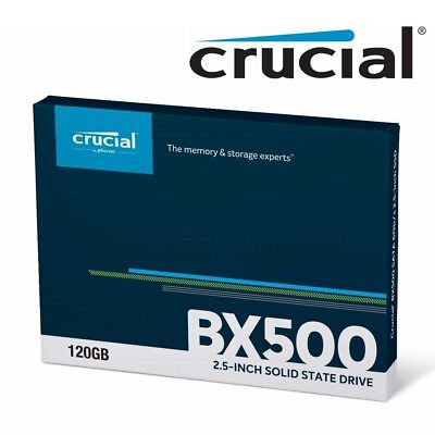 AU36.95 • Buy SSD 120GB Crucial BX500 Internal Solid State Drive Laptop 2.5  SATA III 540MB/s