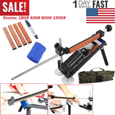 $16.69 • Buy Professional Fix-Angle Edge Pro Style Knife Sharpening Sharpener System+4 Stones