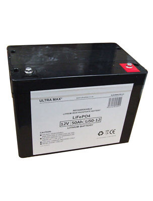 ULTRAMAX LI50-12 12V 50AH (as 55Ah & 60Ah) LiFePO4 LITHIUM PHOSPHATE UPS BATTERY • 240.91£