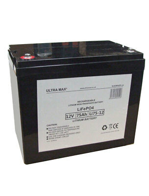 12V 75AH (AS 70AH & 80AH) LITHIUM Mobility Batteries Standby Use Backup System • 368.51£