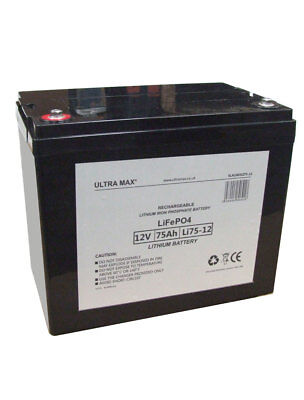 Leisure Battery 12V 75AH ULTRAMAX Battery Caravan Motorhome, Marine Boat LV22MF • 368.51£