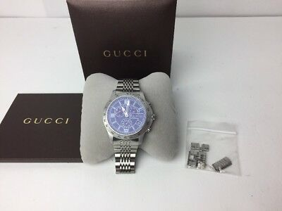 bc3365ca862 Gucci 126 G-Timeless Mens Black Dial Swiss Chronograph Quartz Watch  YA126217 • 339.99