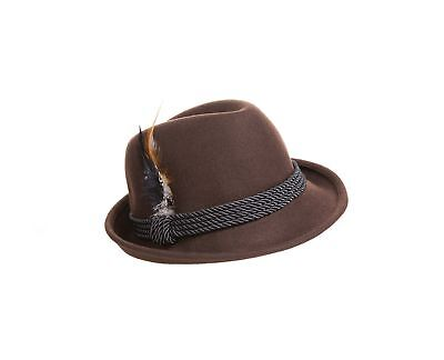 Holiday Oktoberfest Wool Bavarian Alpine Hat - Brown Color - Size Extra  Large • 43.49  9f9dcb84dd32