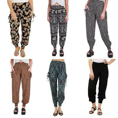 AU20.95 • Buy Caroline Morgan Harem Pants Women Casual Baggy Hippie Bohemian Yoga Travel Beach