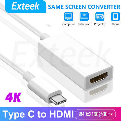 AU9.86 • Buy 4K USB-C Type C USB 3.1 Male To HDMI Female HDTV 2160p 1080p Adapter Cable Cord