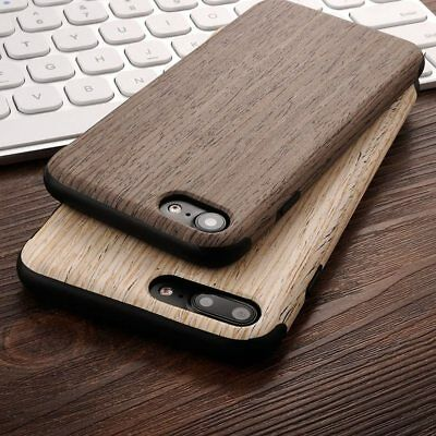 For IPhone XS Max 8 7 6S XR Ultra-Thin Natural Real Wooden Print Soft Cover Case • 5.75£