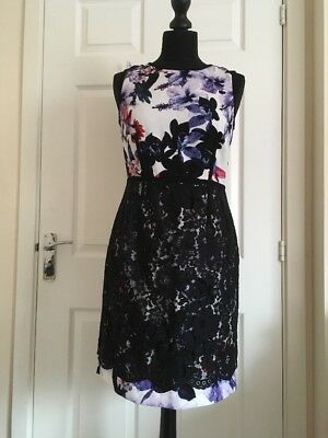 $ CDN39.82 • Buy Ivanka Trump Multi Floral Pencil Lace Dress Size US4/UK8