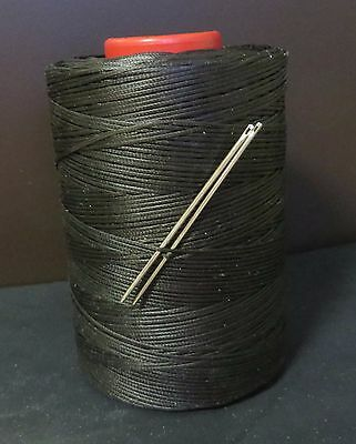 £3.95 • Buy RITZA TIGRE WAXED HAND SEWING THREAD 1.0m FOR LEATHER & 2 NEEDLES BLACK JK23
