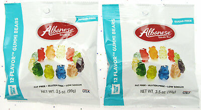 $11.07 • Buy Albanese ~ Sugar Free ~ Gummi Bears  Fruit Chewy Candy Gummy Sweets