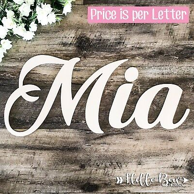 AU4.40 • Buy MDF LETTERS 25cm HIGH Create Personalised Names & Words BABY KIDS BEDROOM DECOR