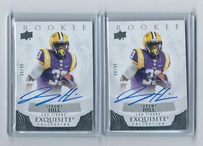 $ CDN24.99 • Buy 2013 Ud Exquisite Draft Picks Auto Jeremy Hill 2 Card Lot /99 Pats
