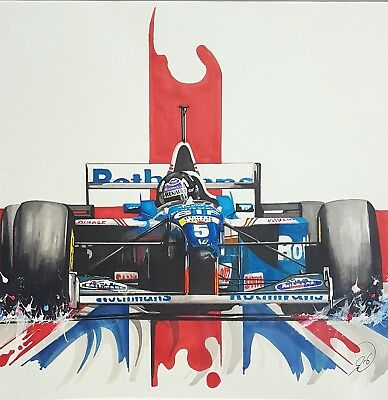£11.99 • Buy Damon Hill - F1 British Driver Car Racing Large Poster / Canvas Picture Prints