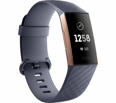View Details FITBIT Charge 3 - Blue Grey & Rose Gold Universal - Currys • 74.99£