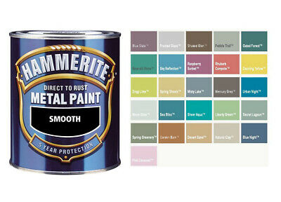 Hammerite - Smooth Direct To Rust Metal Paint - Mixed Colours - 750ML • 20.40£