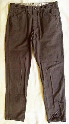 H & M LOGG Label Of Graded Goods Men's 32 Faded Black Jeans Pants Tapered Fit • 13.60$