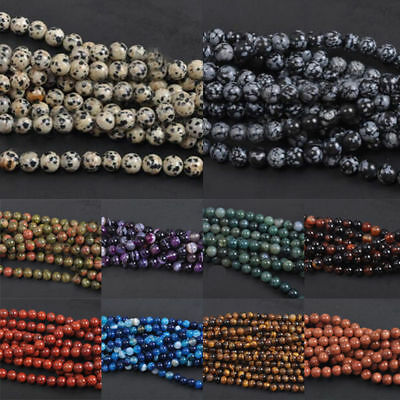 $ CDN0.99 • Buy HOT! Natural Gemstone Round Spacer Loose Beads Assorted Stones 4MM 6MM 8MM 10MM