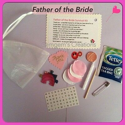 Father Of The Bride Or Groom Survival Kit - Wedding Gift • 3.80£